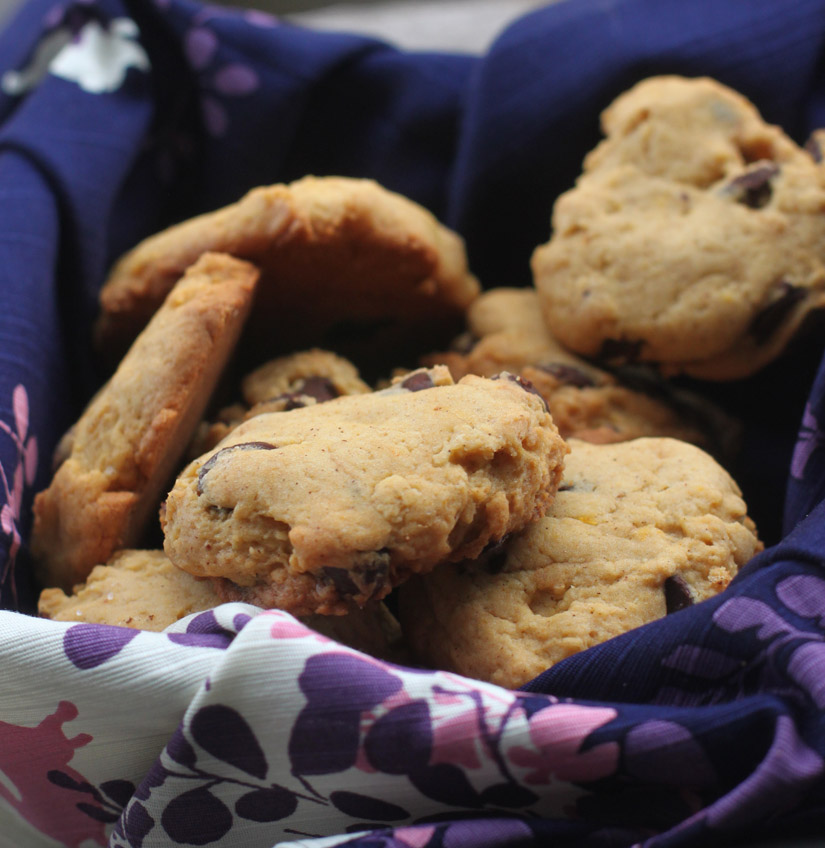 Pumpkin Chocolate Chip Cookies via The Road Home