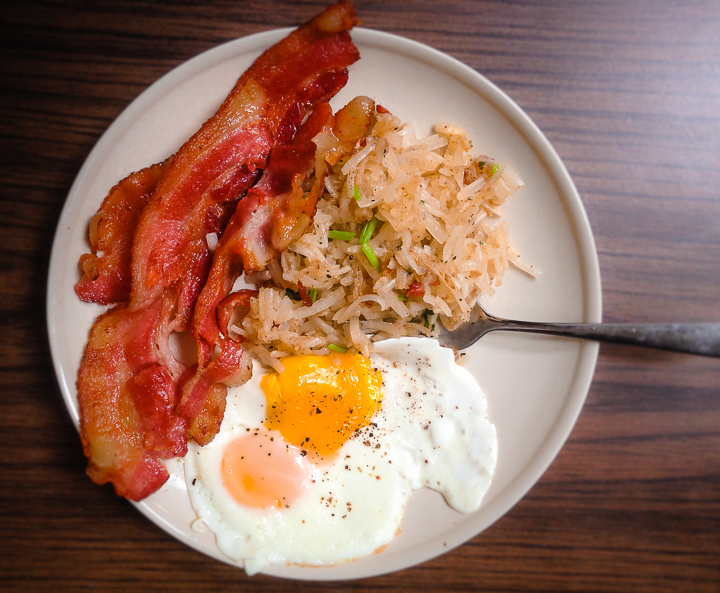 BaconHash-BrownSunny-Side-Up-top-view